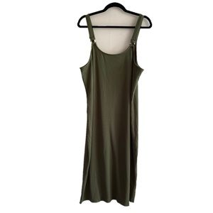 Fashion Nova olive green NWT long ribbed dress